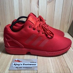 Adidas Men's ZX Flux S78344 Red Gym Running Shoes